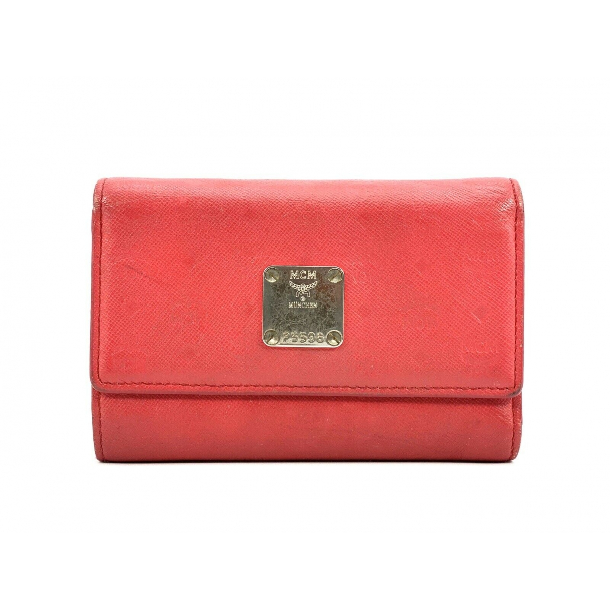 Mcm \N Red Leather wallet for Women \N