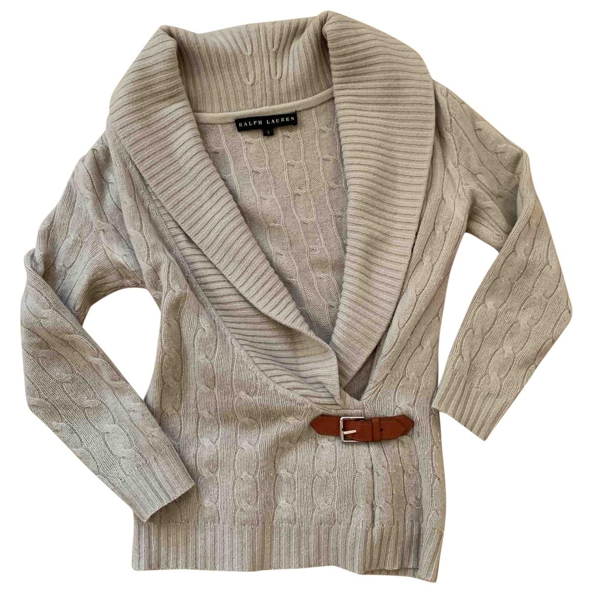 Ralph Lauren - Pull   pour femme en cachemire - beige