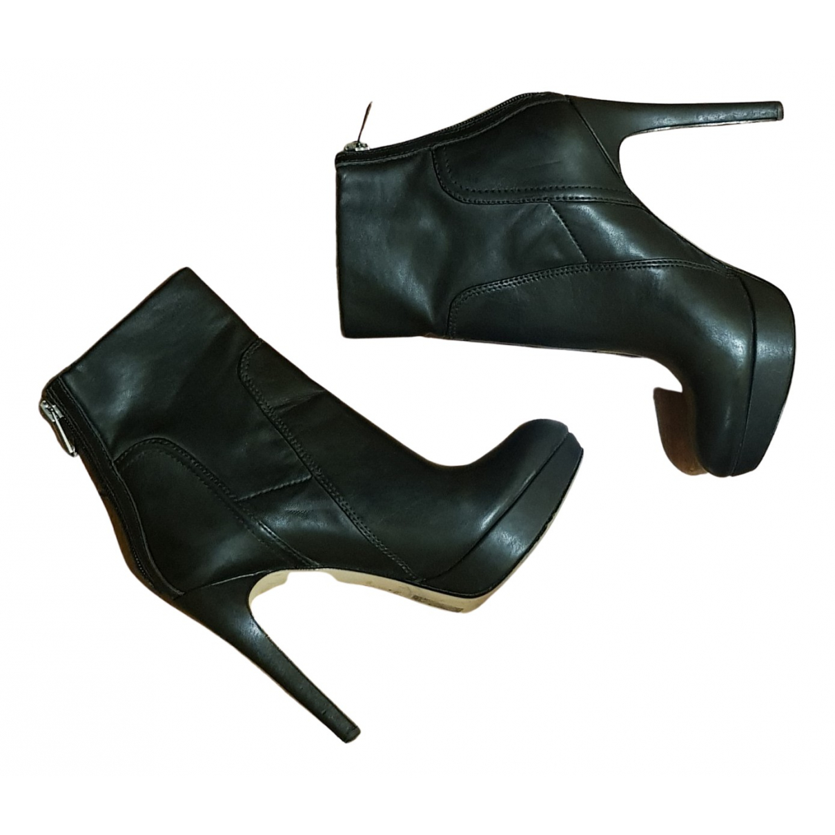 Sam Edelman N Black Leather Ankle boots for Women 36 EU