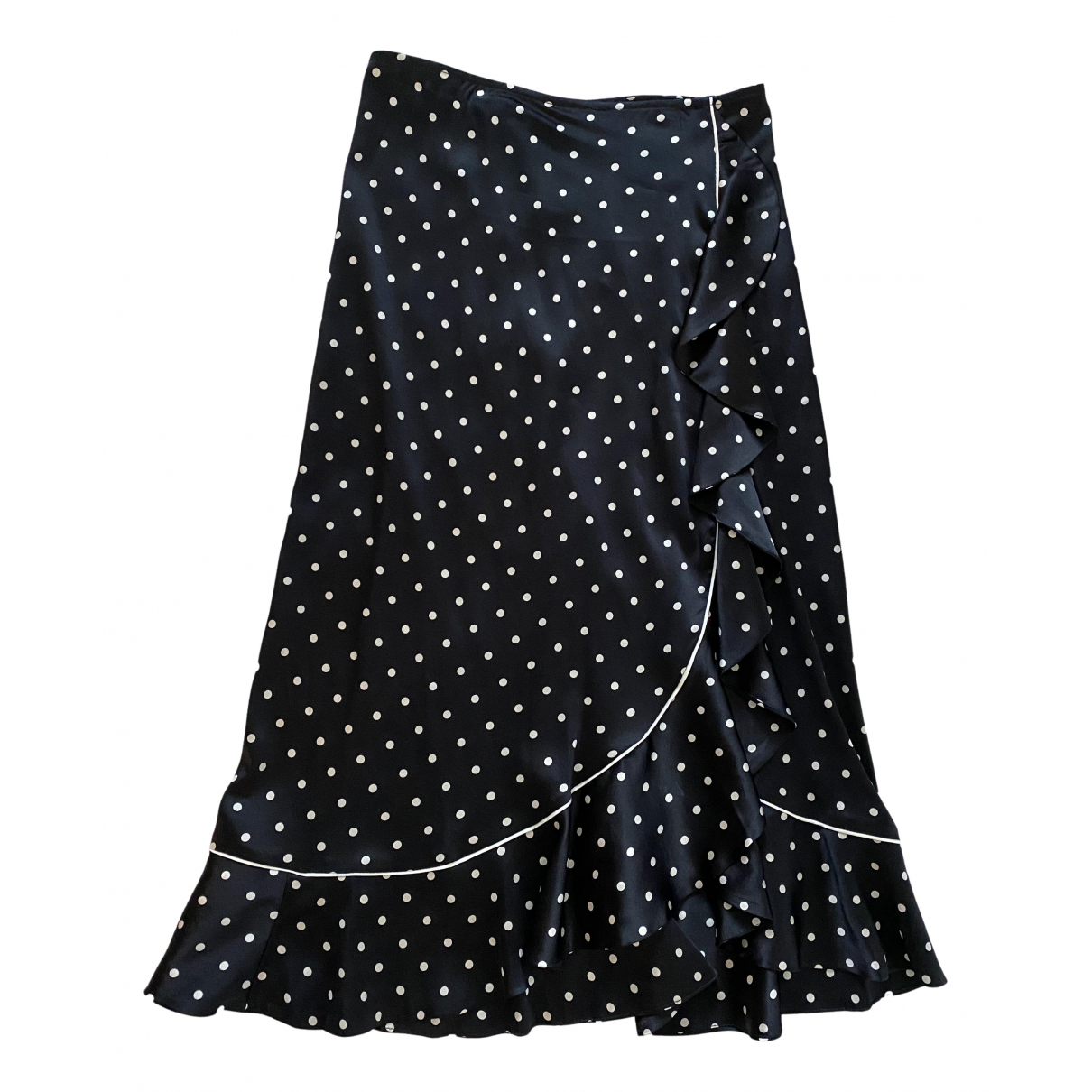 Ganni N Navy Silk skirt for Women 34 FR