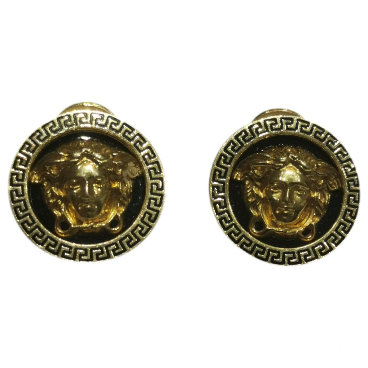 Versace - Boucles doreilles Medusa pour femme en or jaune - jaune