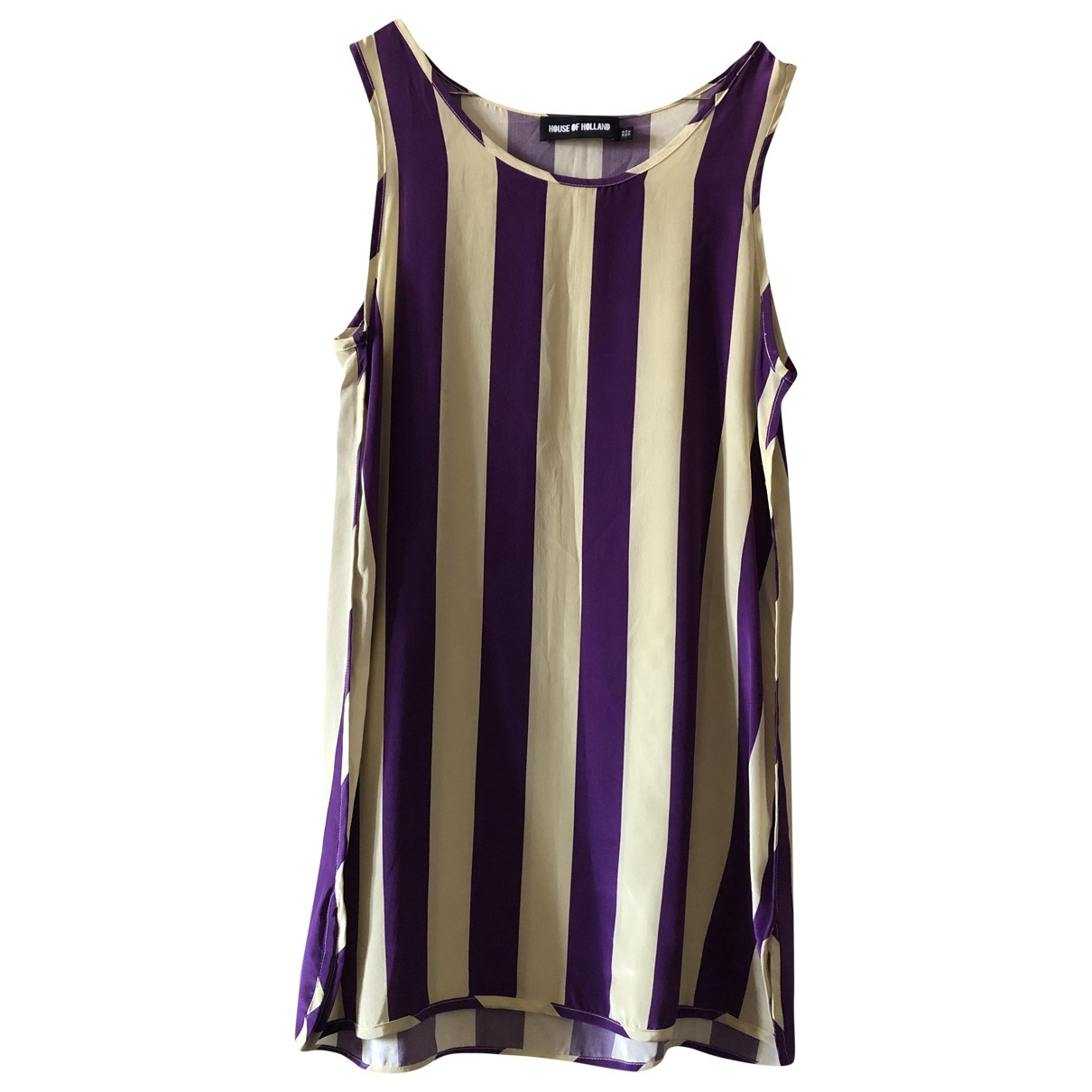 House Of Holland - Top   pour femme en soie - violet