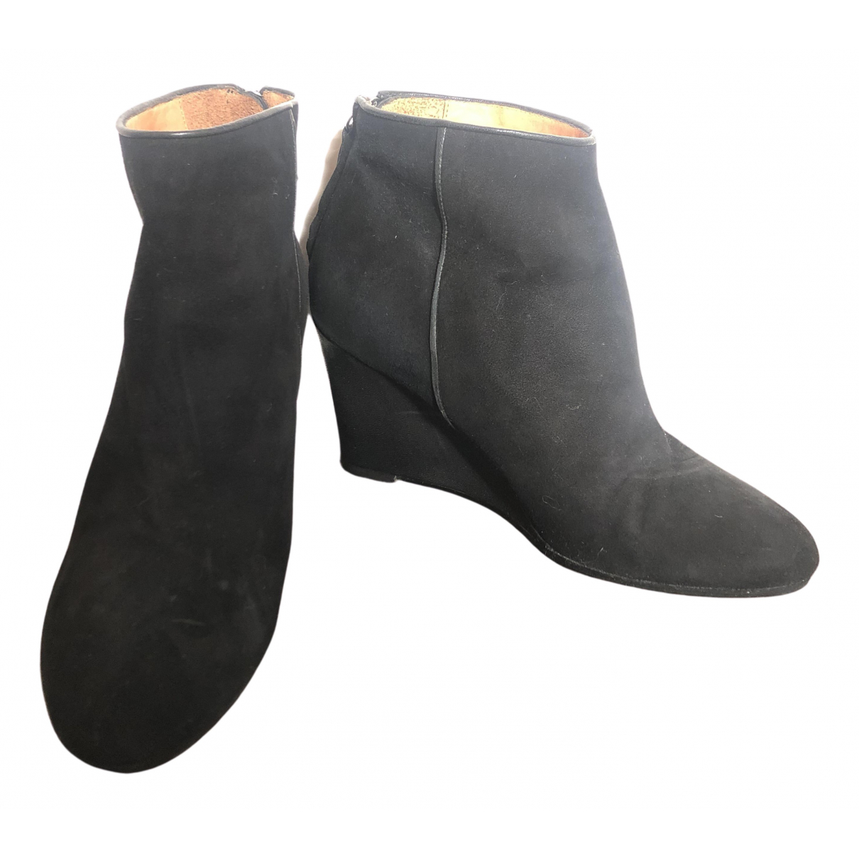 Whistles N Black Suede Ankle boots for Women 39.5 EU