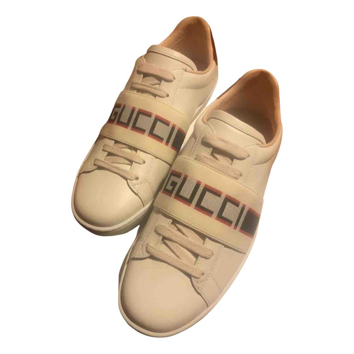Gucci - Baskets Ace pour femme en cuir - multicolore