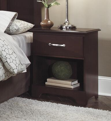 Signature Series 472100 22 Nightstand with 1 Drawer  Bottom Shelf and Solid Wood Frame in