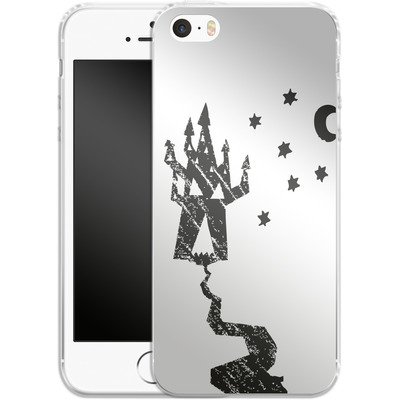Apple iPhone SE Silikon Handyhuelle - Haunted House von caseable Designs