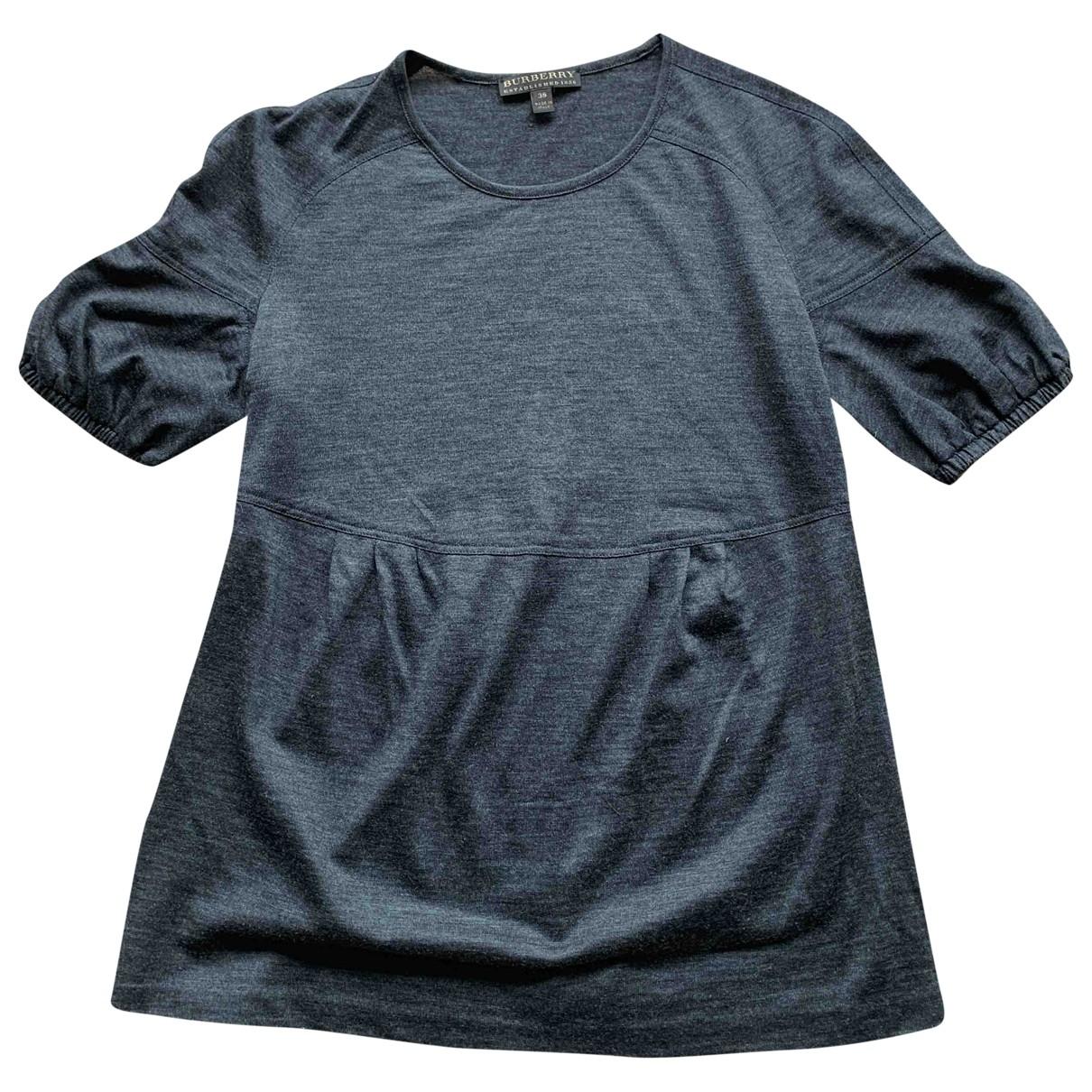 Burberry \N Grey Wool  top for Women 38 FR