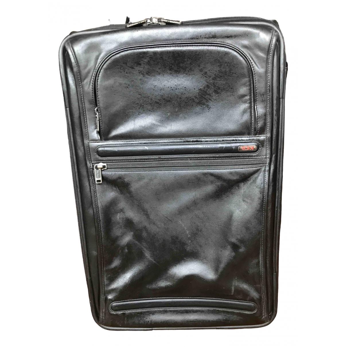 Tumi - Sac de voyage   pour femme en cuir - noir