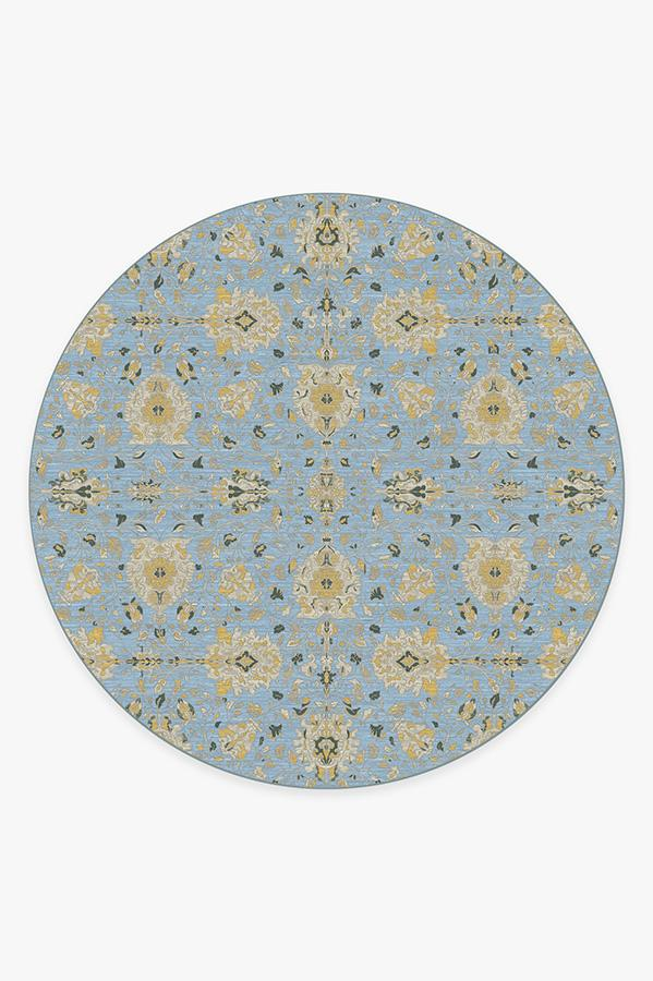Washable Rug Cover | Marie Pale Blue Rug | Stain-Resistant | Ruggable | 8' Round