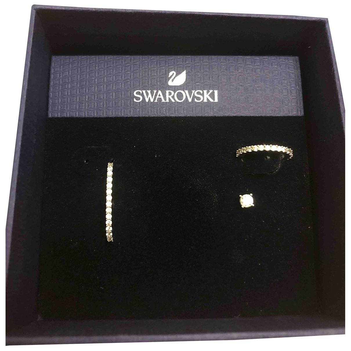 Swarovski \N OhrRing in  Silber Metall