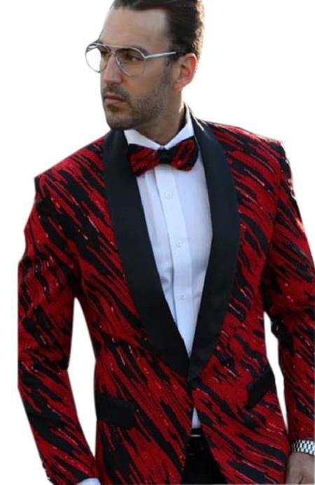 Mens Fancy Designed Black Shawl Lapel dinner jacket Sport Coat Blazer