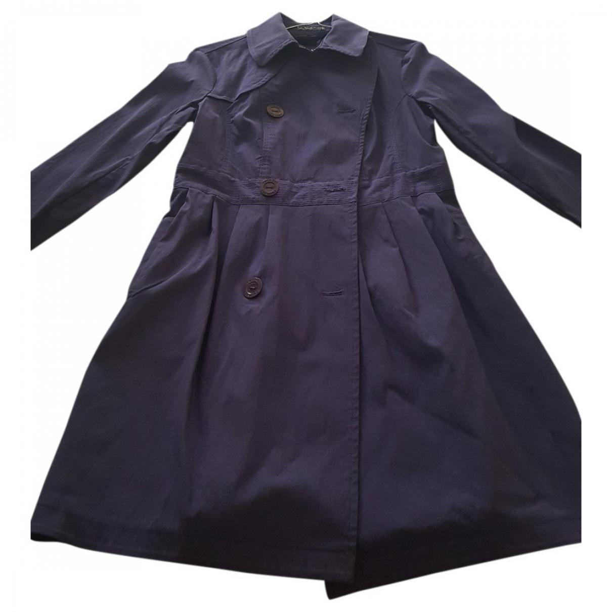 Twin Set \N Purple Cotton coat for Women 40 IT