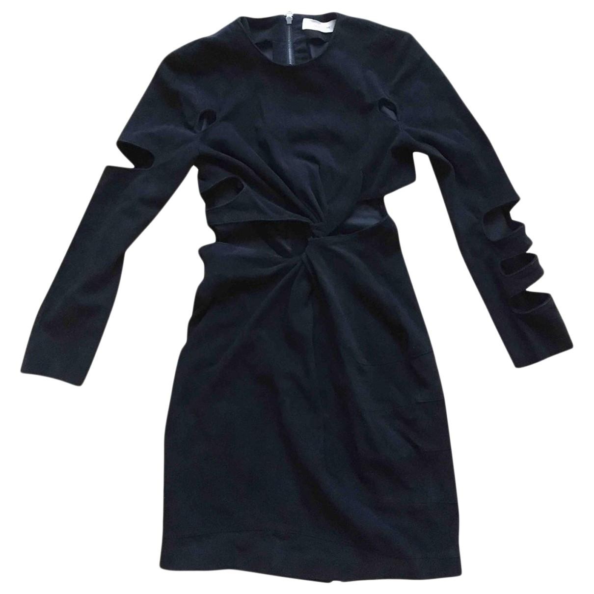 Preen \N Kleid in  Schwarz Veloursleder