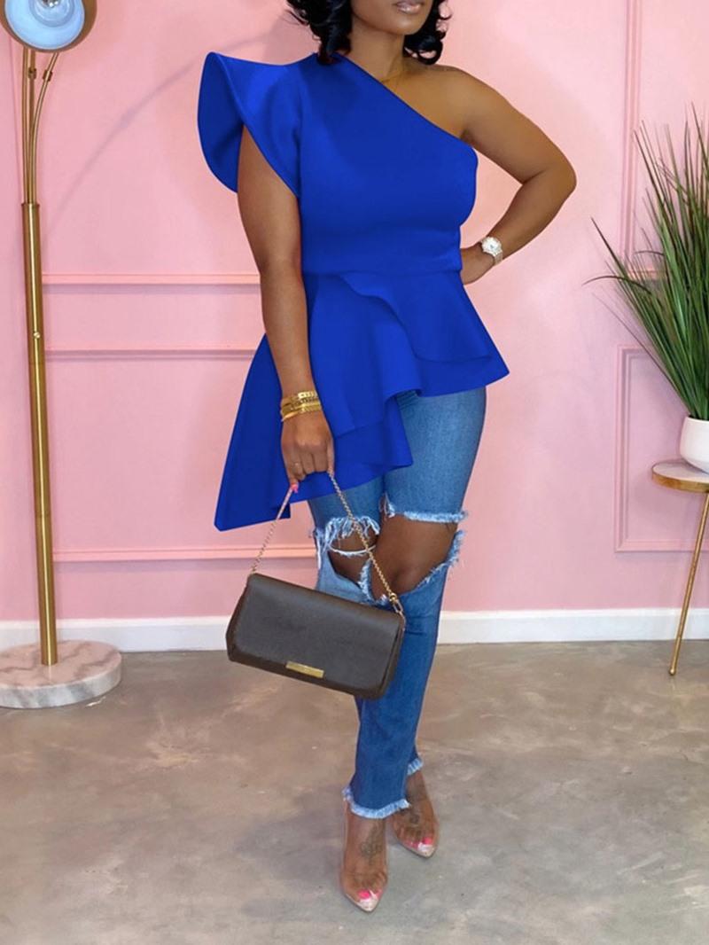 Ericdress Regular Mid-Length Short Sleeve Blouse