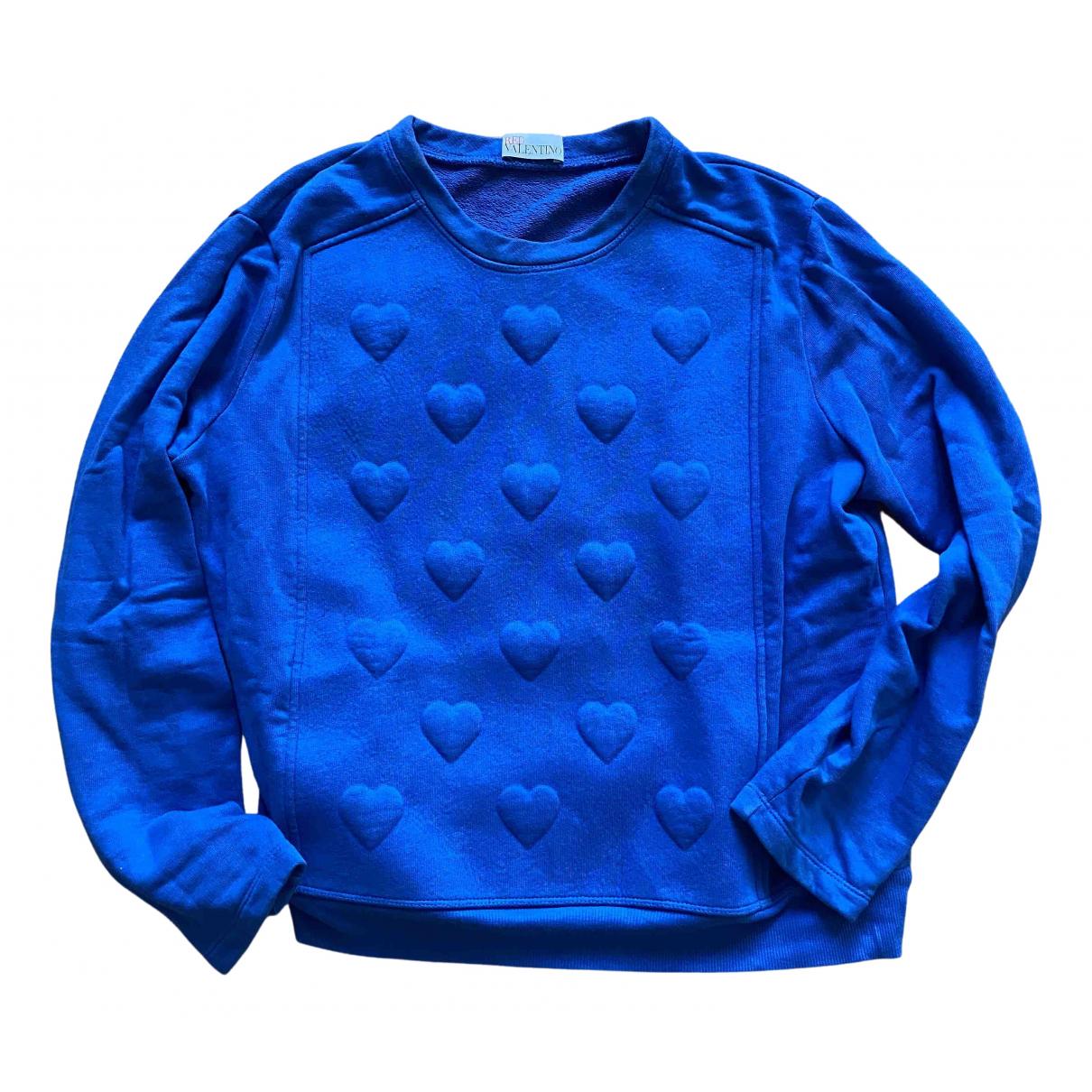 Red Valentino Garavani - Pull   pour femme en coton - bleu