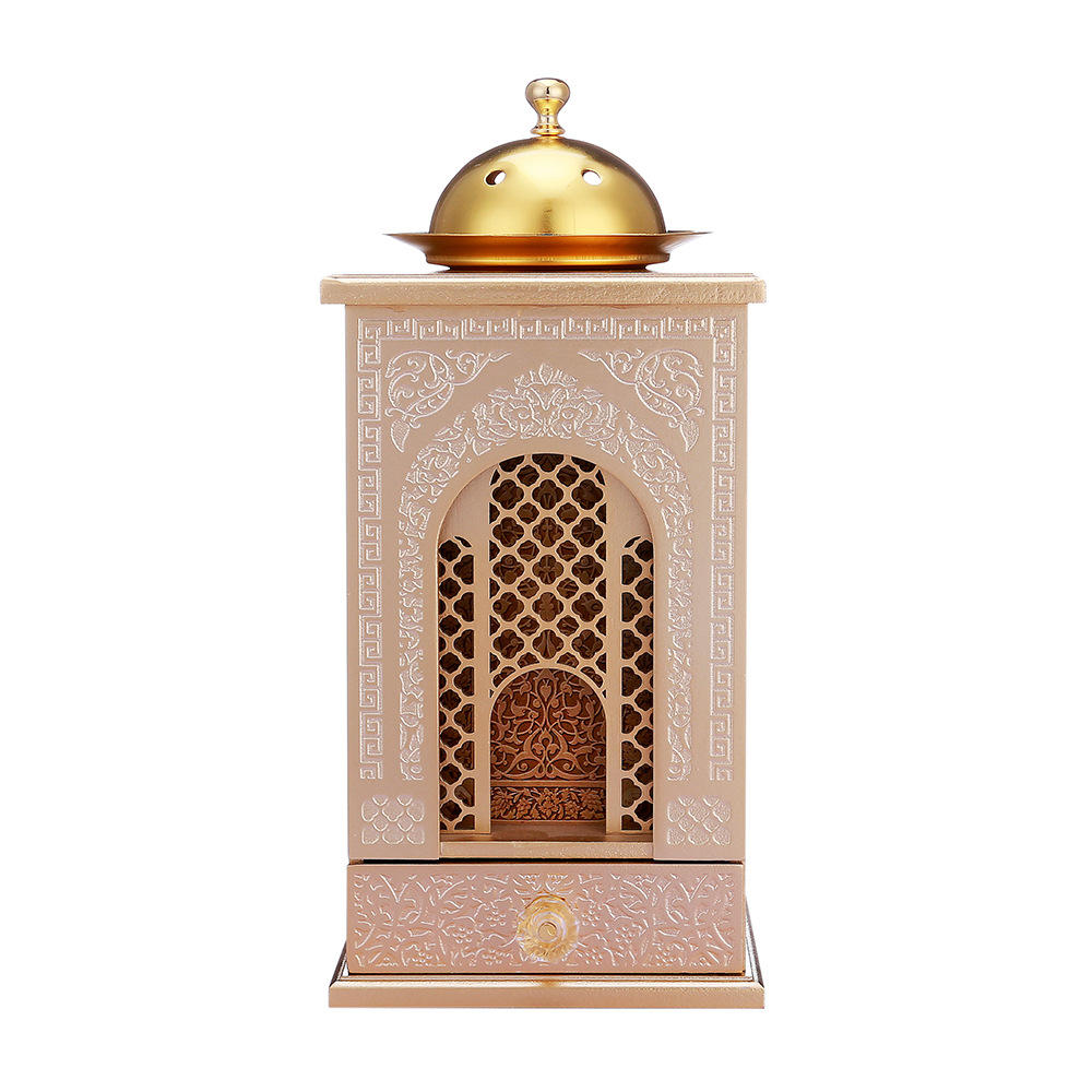 Hand Painted Middle East Style Wooden Metal Incense Burner Tower Holder