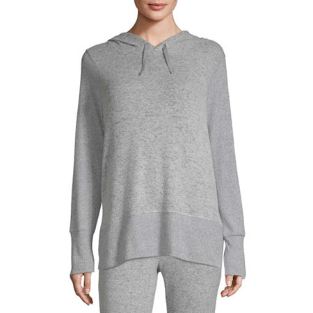 Xersion Womens Hooded Neck Long Sleeve Hoodie, Small , Gray