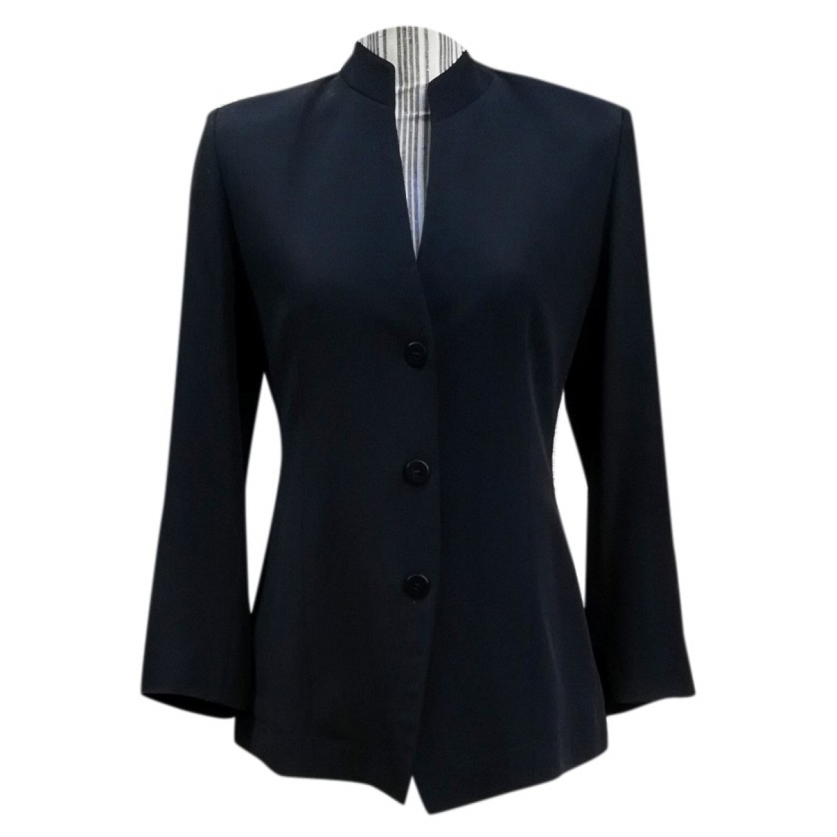 Non Signé / Unsigned \N Black Silk jacket for Women S International
