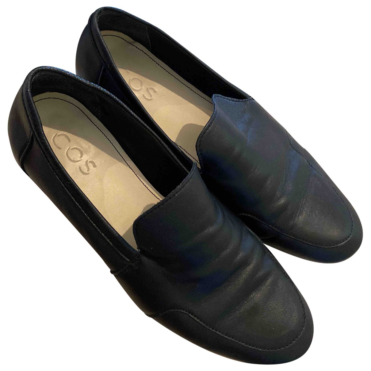 Cos \N Black Leather Flats for Women 38 IT