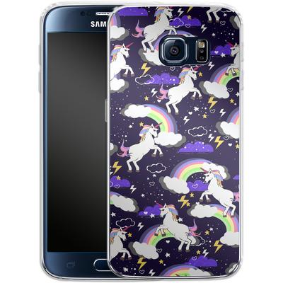 Samsung Galaxy S6 Silikon Handyhuelle - Unicorn Blue von Mukta Lata Barua