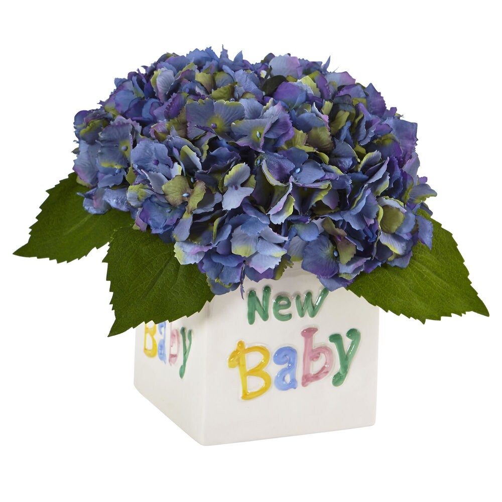 Hydrangea in New Baby Ceramic (Blue) (Blue)
