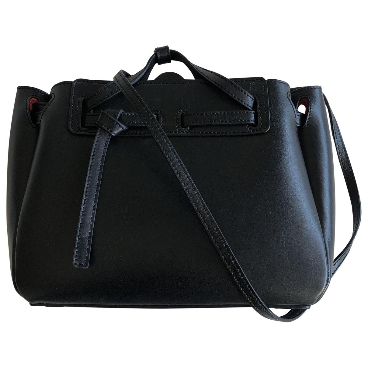 Loewe Lazo Mini Black Leather handbag for Women \N