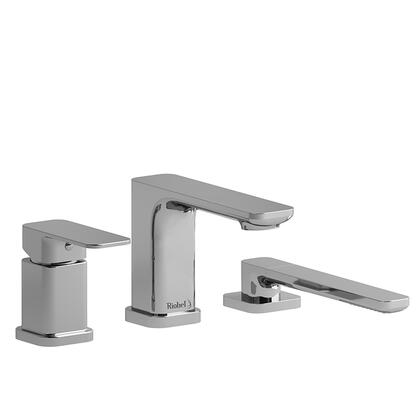 Equinox EQ16BN 3-Piece Pressure Balance Deck Mount Tub Filler with Hand Shower  in Brushed