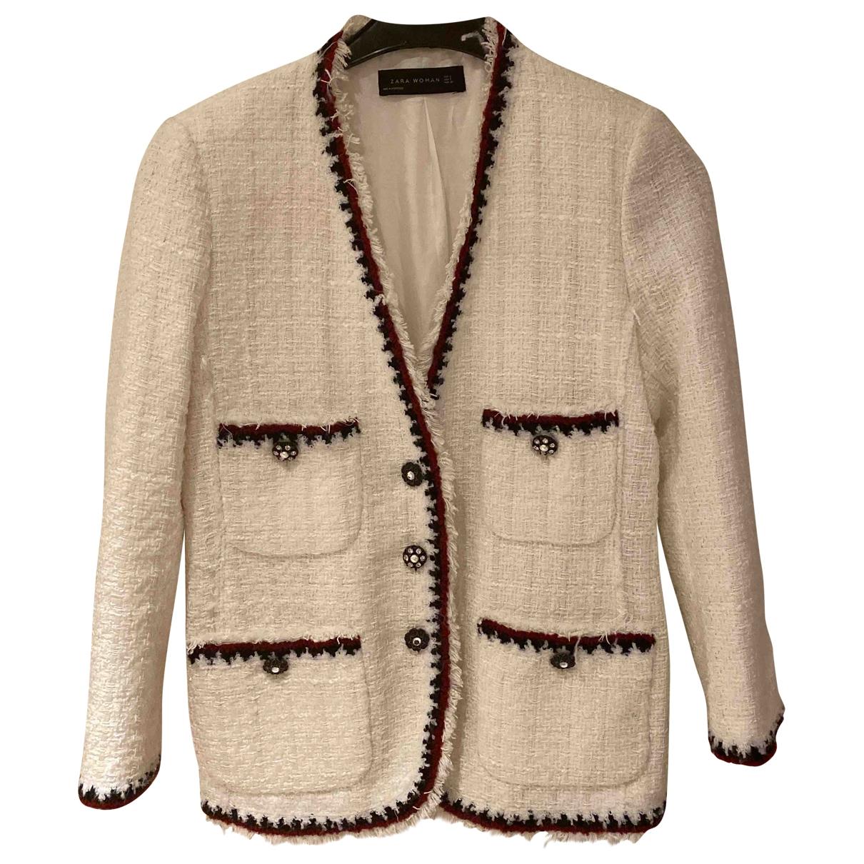 Zara \N White jacket for Women S International