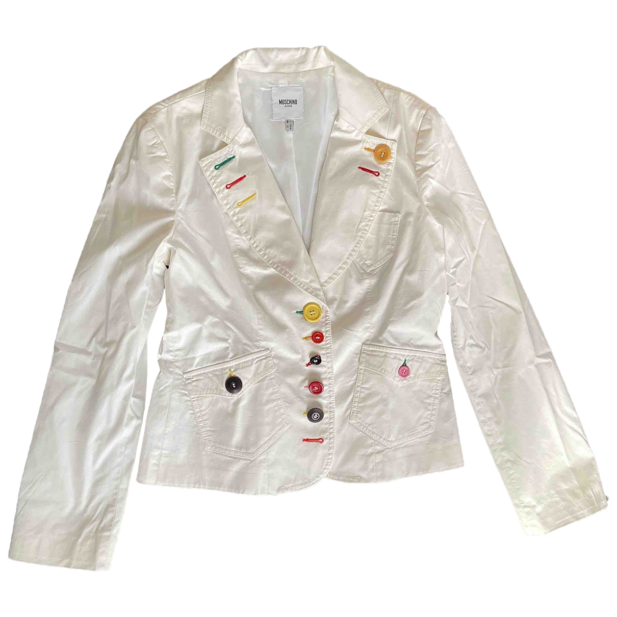 Moschino Cheap And Chic \N White Cotton jacket for Women 46 IT