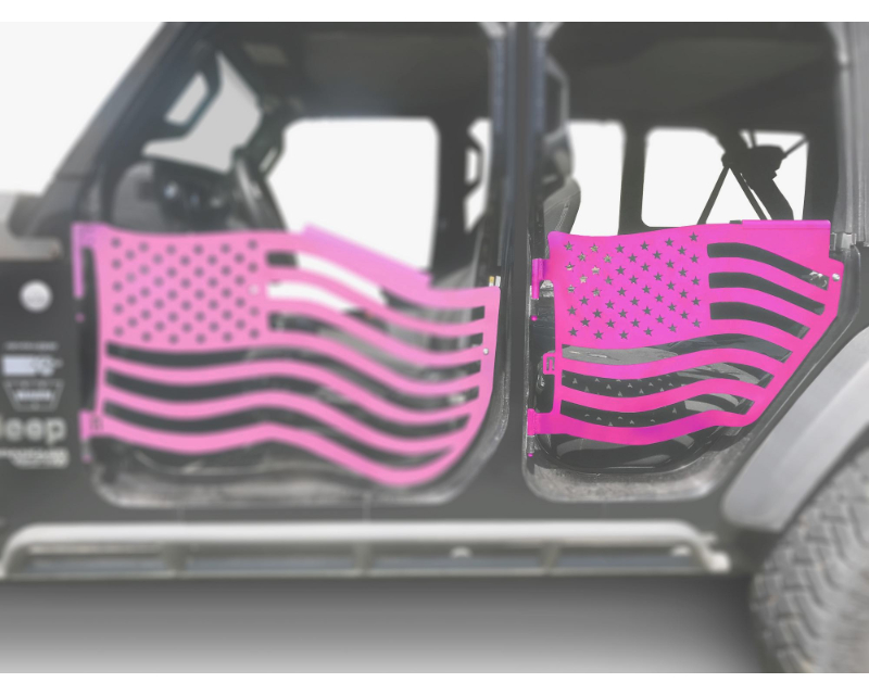 Steinjager J0049434 Doors Trail Hot Pink Jeep Wrangler JL 2018+