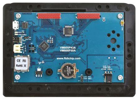 Bridgetek VM800P50A-BK, FT800 EVE Plus 5in Resistive Touch Screen Evaluation Module With Black Bezel