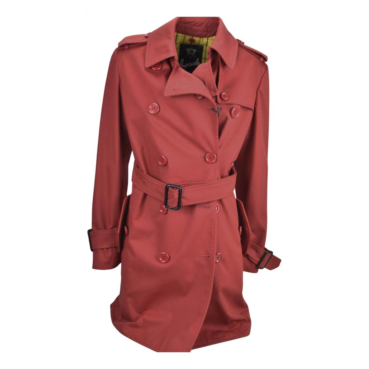 - Trench   pour femme en coton - rouge