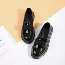 Slip On Loafers mit Schleife Dekor