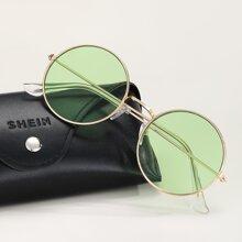 Maenner Sonnenbrille mit rundem Rahmen