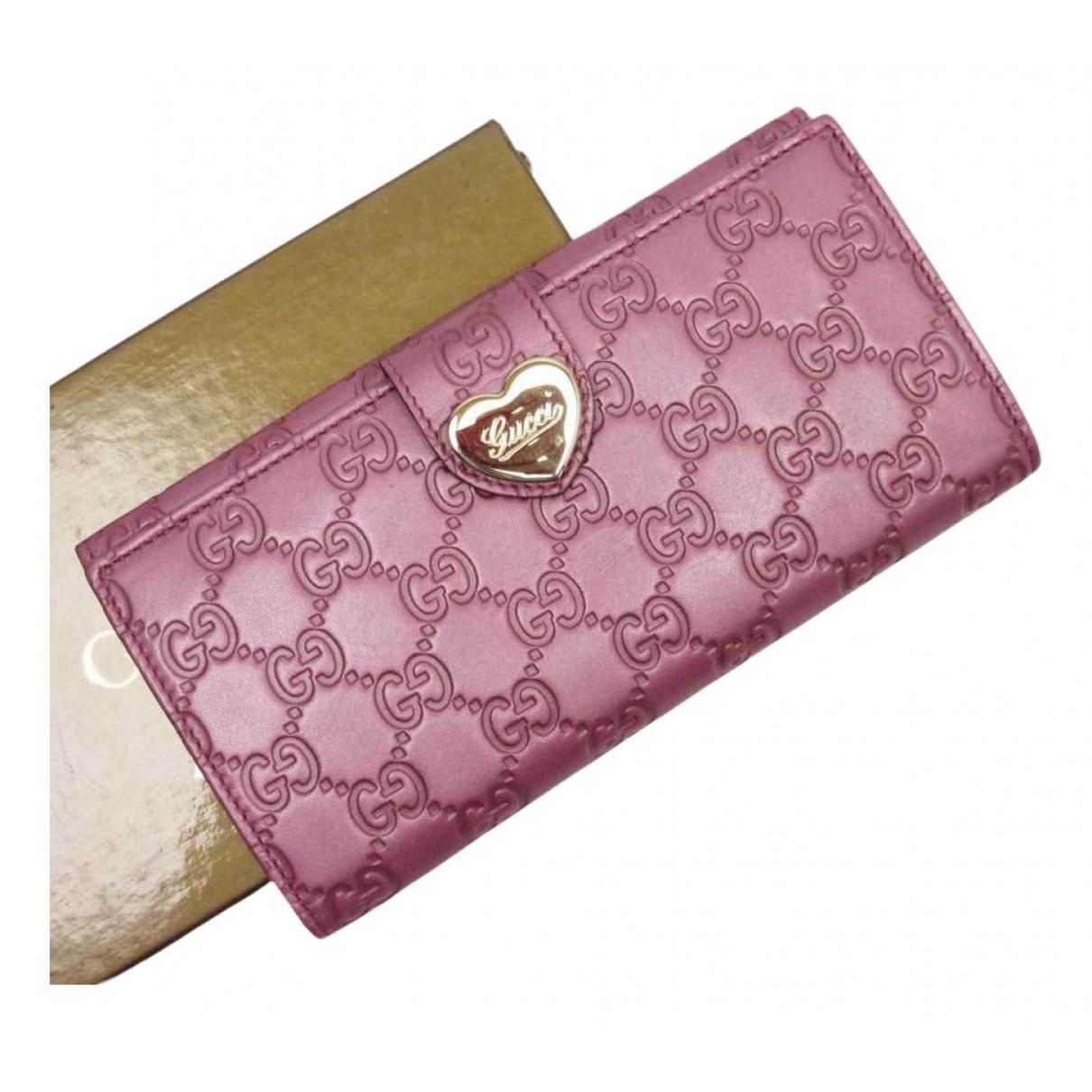 Gucci - Portefeuille   pour femme en cuir - multicolore