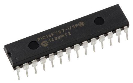 Microchip PIC16F737-I/SP, 8bit PIC Microcontroller, PIC16F, 20MHz, 4K Flash, 28-Pin SPDIP