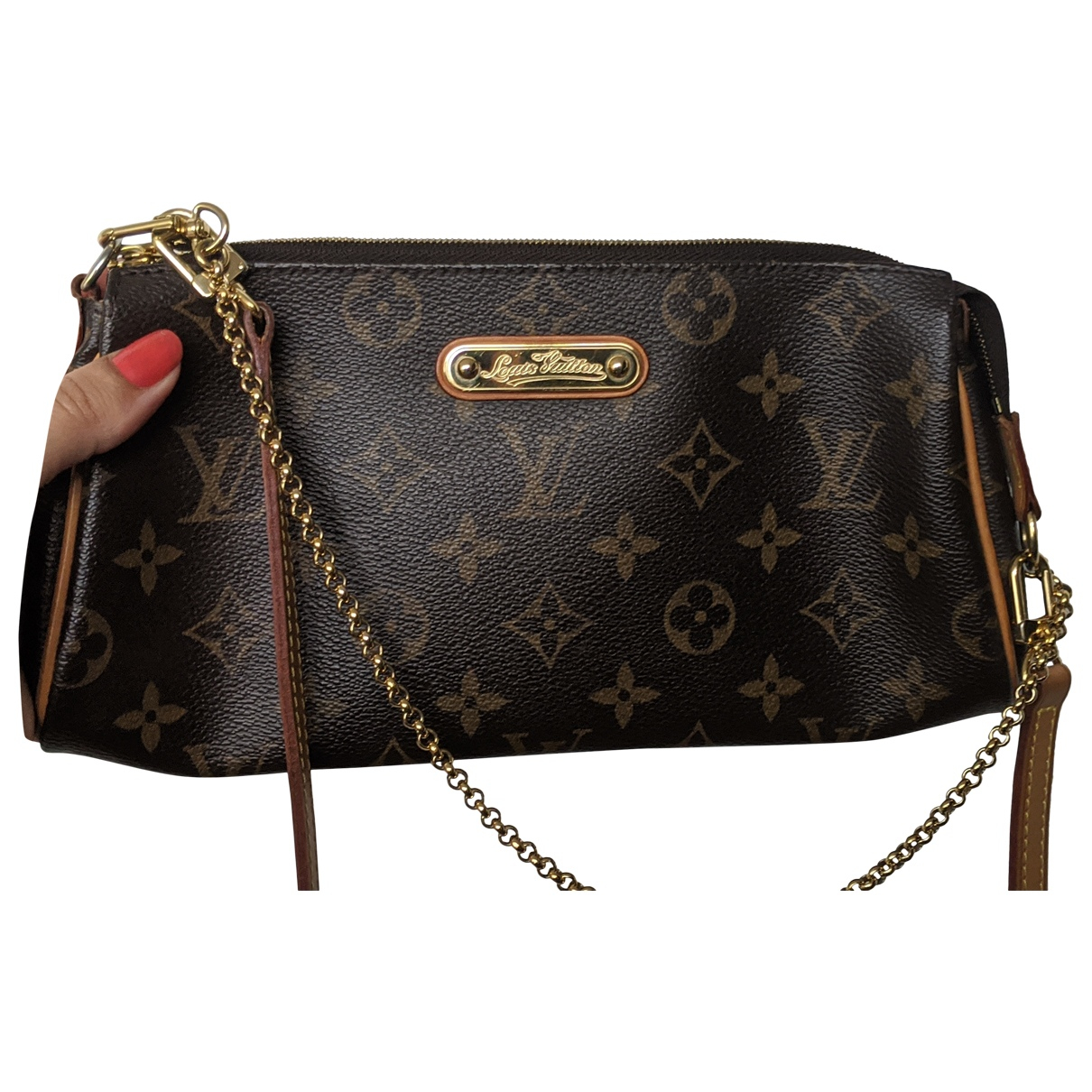 Louis Vuitton Eva Brown Cloth Clutch bag for Women \N