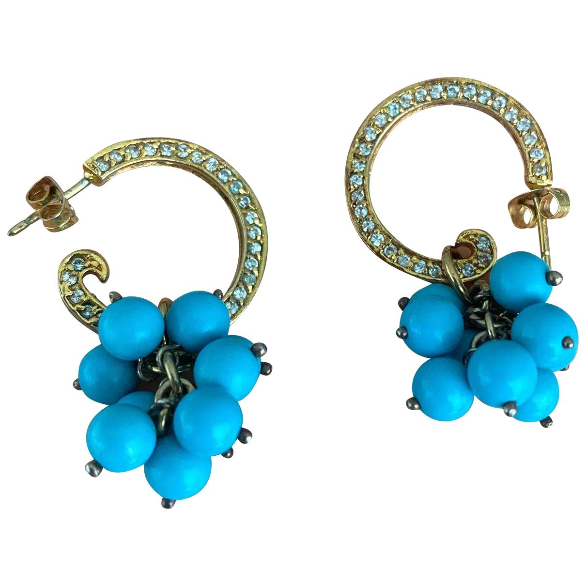 - Boucles doreilles   pour femme en argent - bleu
