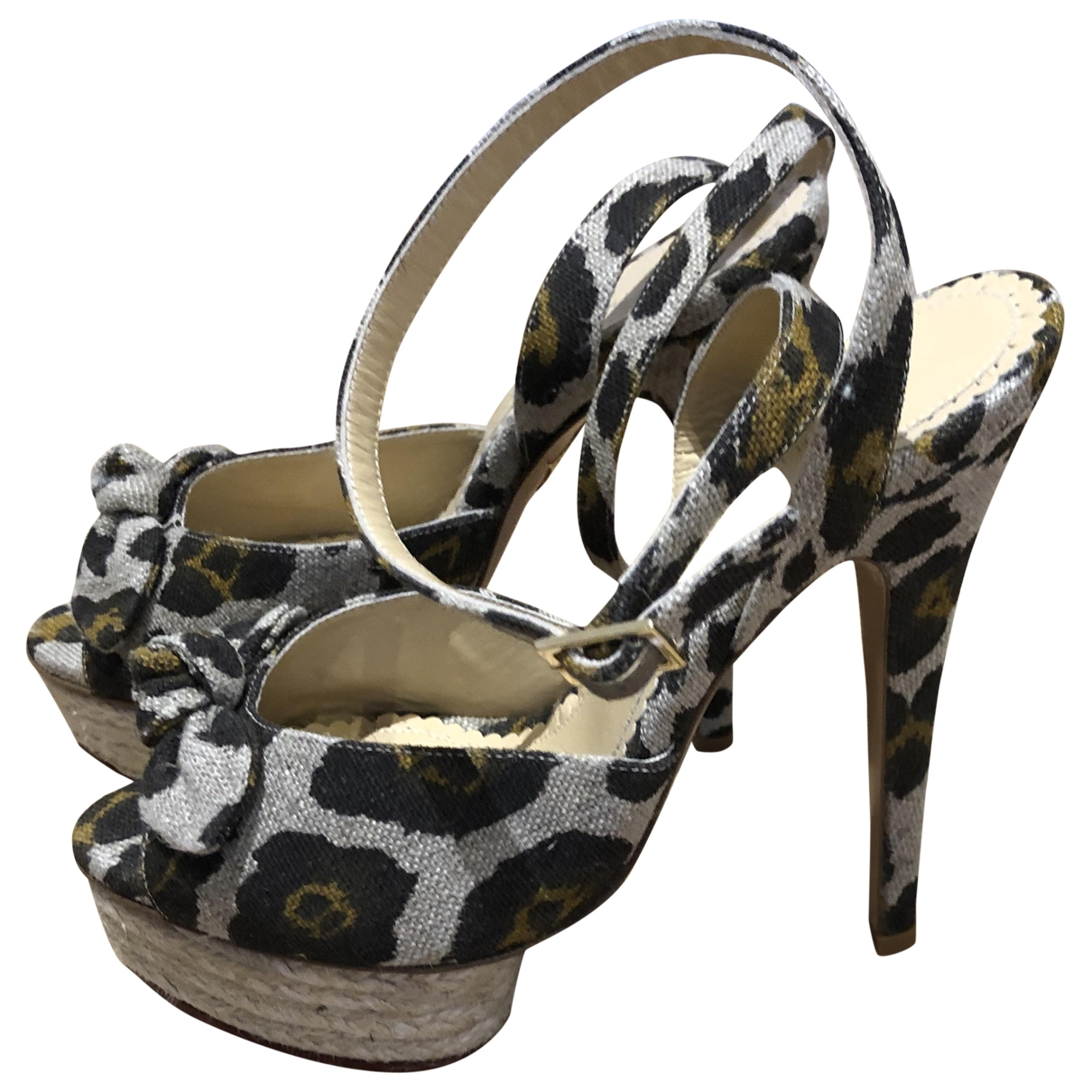 Charlotte Olympia \N Beige Cloth Sandals for Women 37 EU