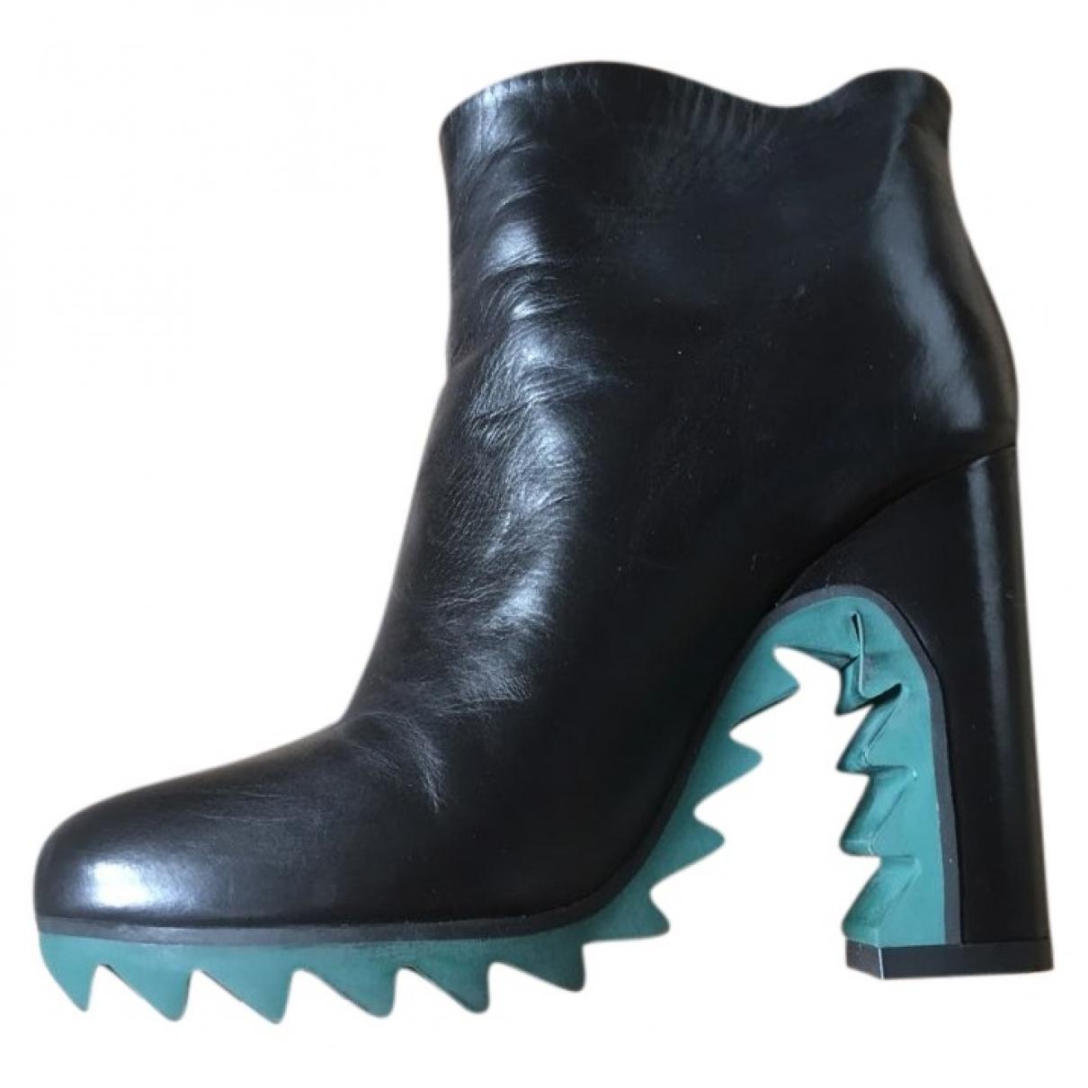 Jil Sander - Bottes   pour femme en cuir - vert