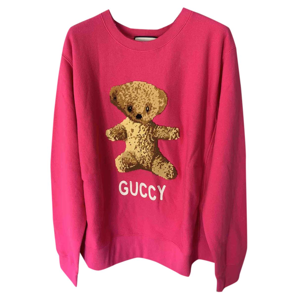 Gucci \N Pullover.Westen.Sweatshirts  in  Rosa Baumwolle