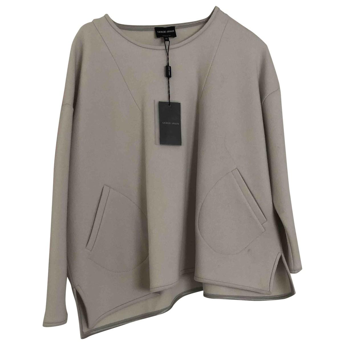 Giorgio Armani \N Top in  Grau Wolle