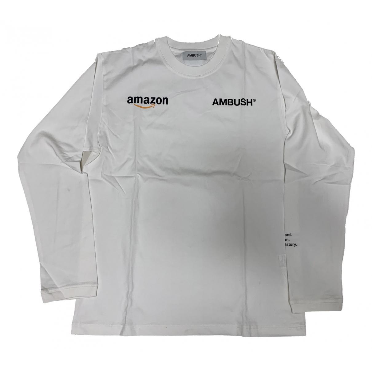 Ambush N White Cotton T-shirts for Men 3 0 - 6