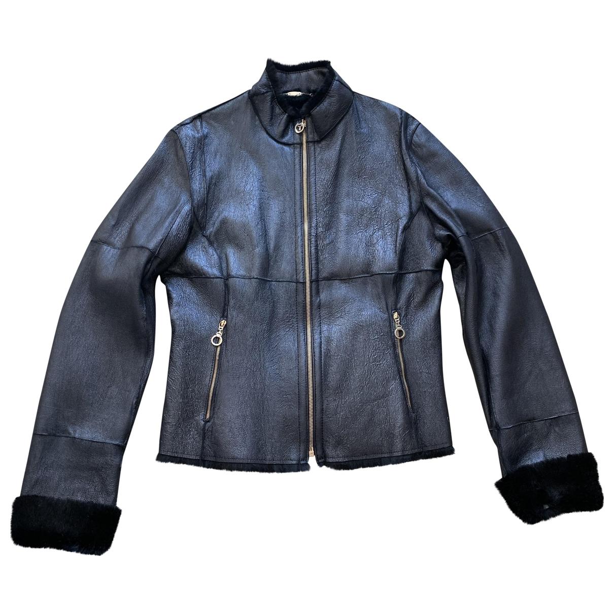 Versace \N Black Shearling jacket for Women 42 IT