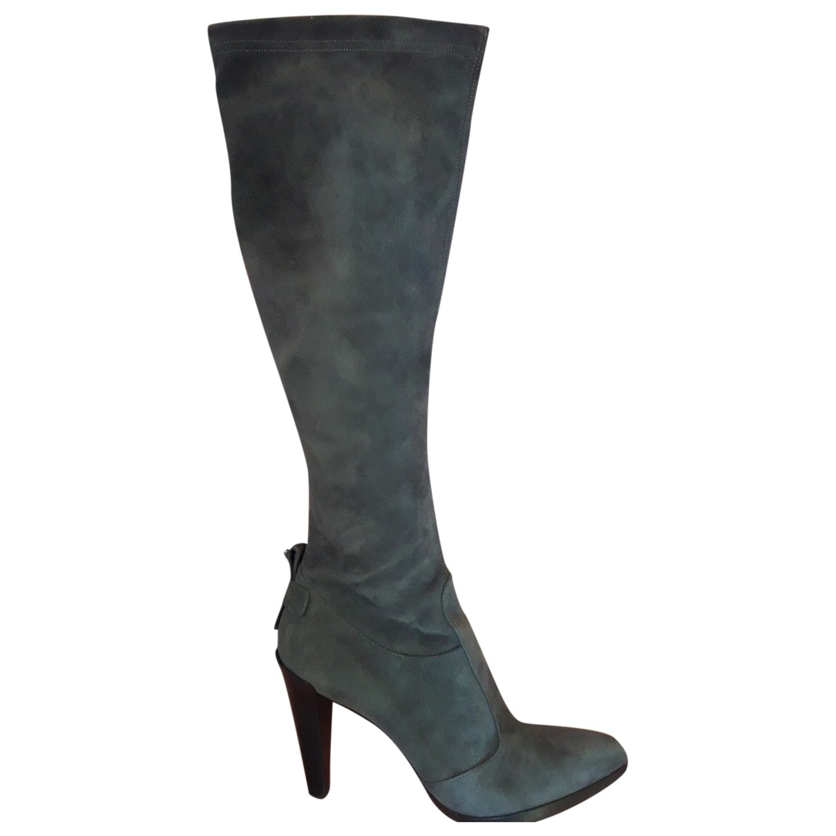 Non Signé / Unsigned \N Grey Suede Boots for Women 40 EU