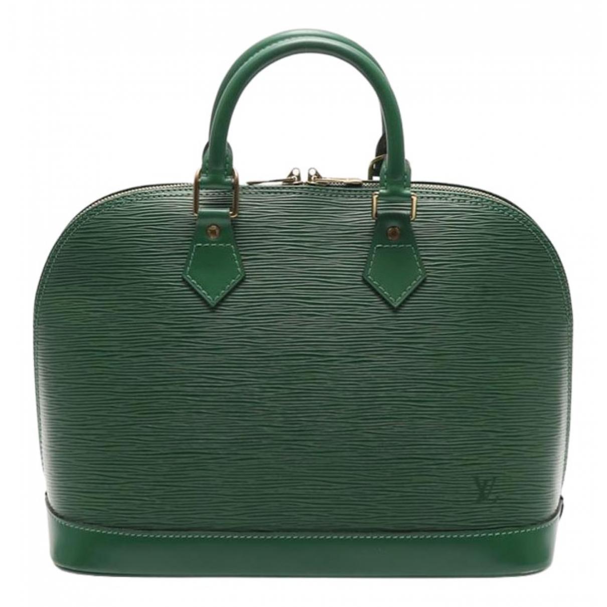 Louis Vuitton - Sac a main Alma pour femme en cuir - vert