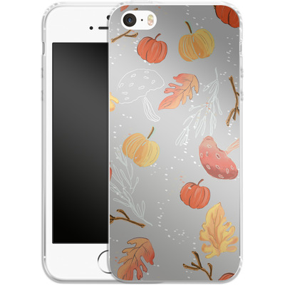 Apple iPhone 5 Silikon Handyhuelle - Fall Woodland Grey von Mukta Lata Barua
