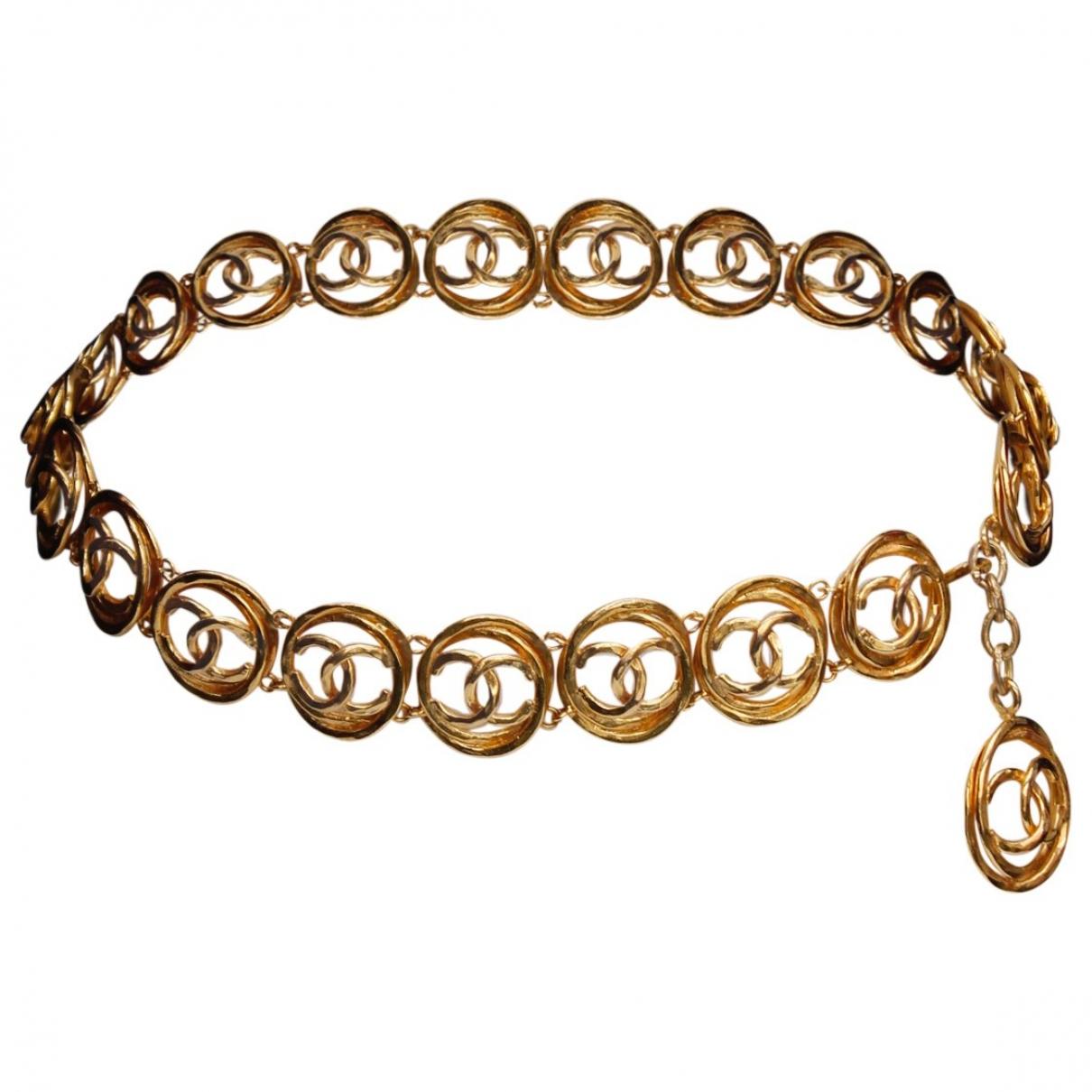 Chanel \N Gold Metal belt for Women 85 cm