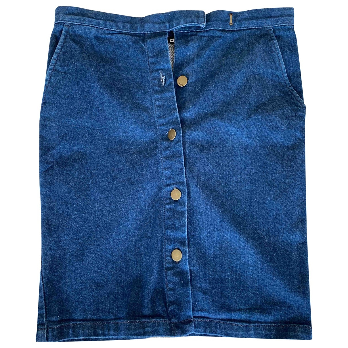 Dkny \N Blue Denim - Jeans skirt for Women 6 US