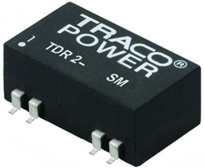 TRACOPOWER TDR 2SM 2W Isolated DC-DC Converter Surface Mount, Voltage in 9 → 18 V dc, Voltage out 12V dc